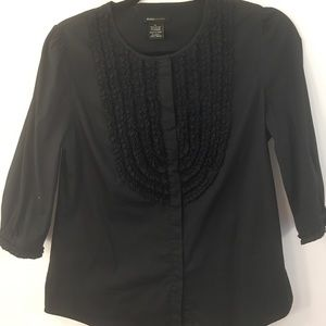 BCBG Top Maxazria Womens Button Front Blouse M